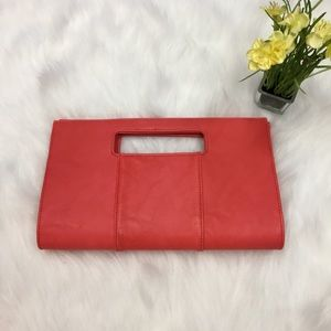 Charming Charlie Coral Clutch Bag